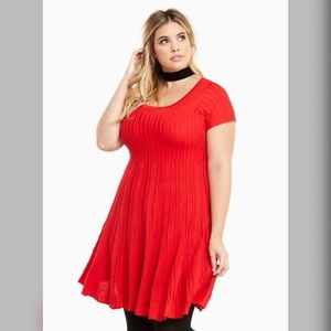 Torrid | red sweater dress
